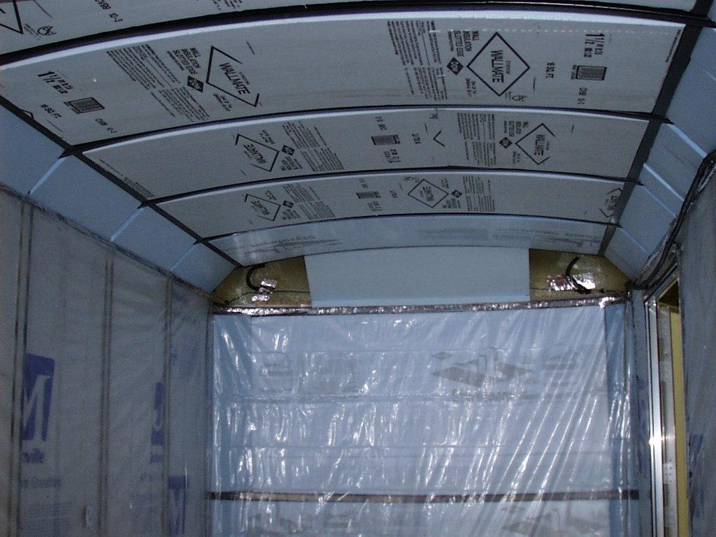 Photo of interior ceiling insulation