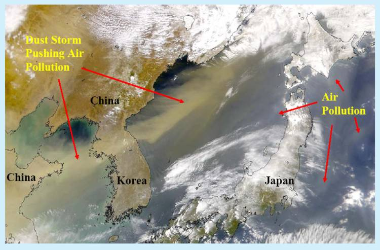 [Asian dust storm and air pollution that impacted the U.S., April 2001]