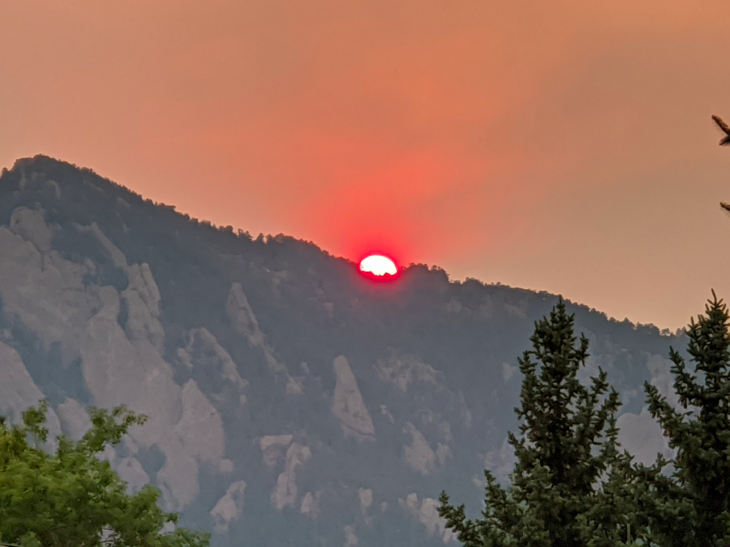 August wildfire smoke impacts Boulder aerosol measurements