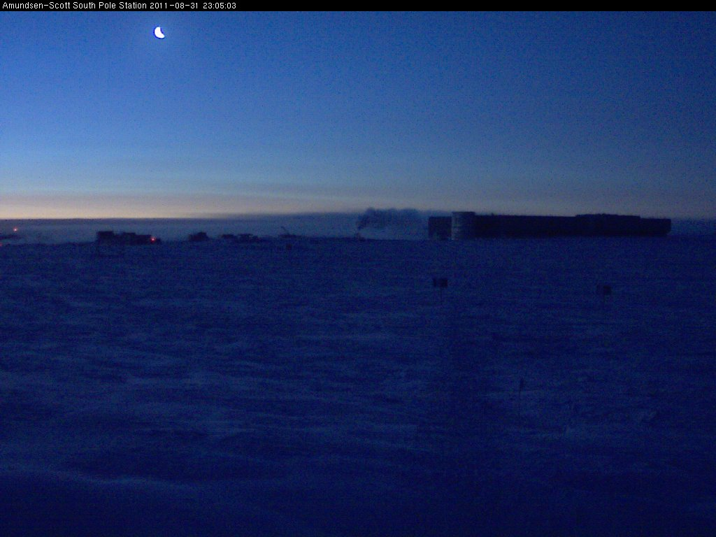 Polar Sunrise and the Ozone Hole at South Pole, Antarctica: Sept. 22, 2012