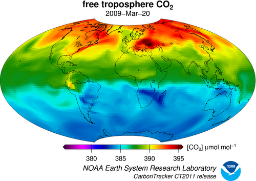 Tracking carbon dioxide across the globe