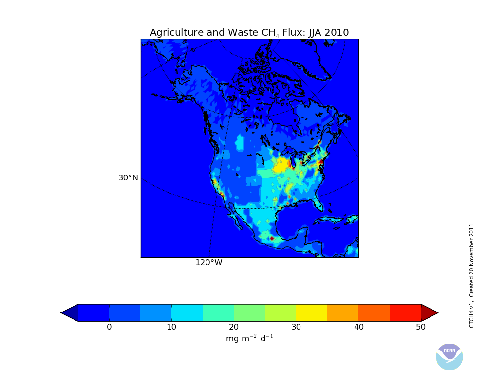 North America Fluxes - Agricultural Waste